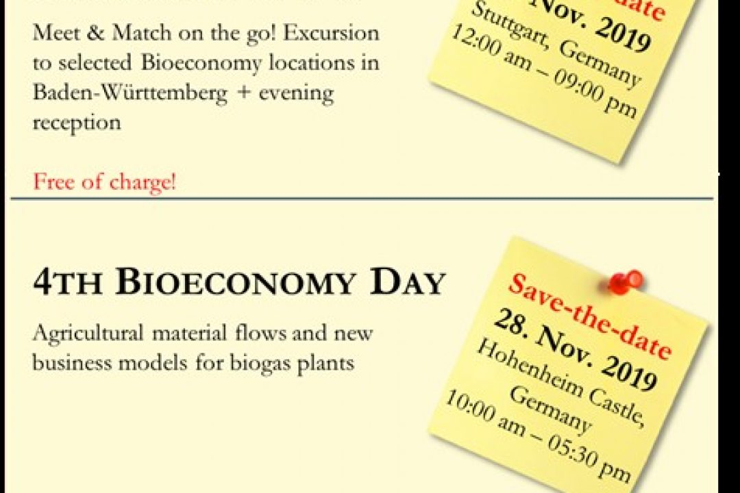 Transnational Bioeconomy Partnerships: Meet & Match on the go! – 27th-28th November 2019 – Stuttgart, Germany